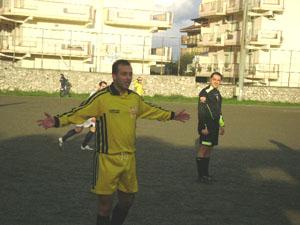 Il giocatore del S. Alessio - Pippo Mangiò